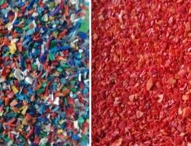plastic flakes sorting