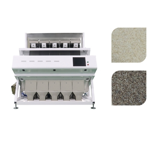 rice color sorter video image